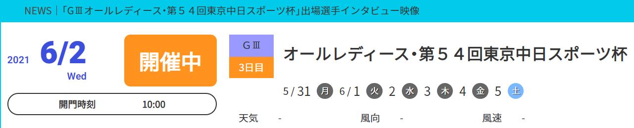 オールレディース・第54回東京中日スポーツ杯